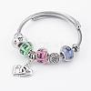 Fashion 304 Stainless Steel European BraceletsBJEW-L622-02-1