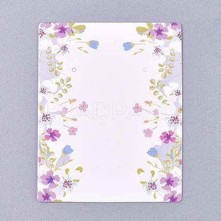 Floral Pattern Paper Jewelry Display CardsCDIS-E009-06A-1