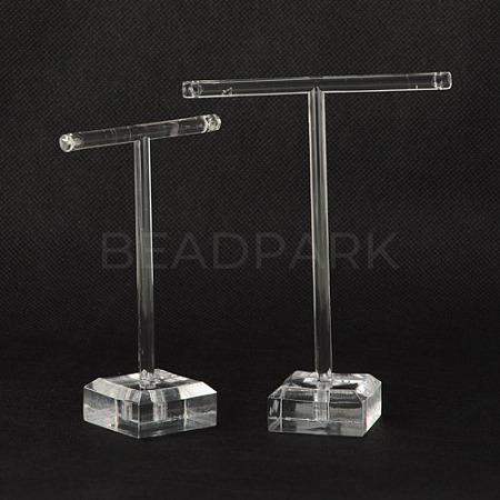 T Bar Organic Glass Earring Display StandX-EDIS-G001-01-1