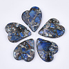 Synthetic Gold Line Regalite/Imperial Jasper/Sea Sediment Jasper PendantsG-S329-052A-1