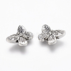 Lead Free & Cadmium Free Antique Silver Tibetan Style Alloy Butterfly BeadsX-TIBEP-GC176-AS-RS-2
