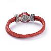 Leather Snap Bracelet MakingAJEW-R022-03-4