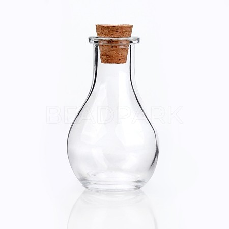 Glass Bottle for Bead Containers X-AJEW-H006-1-1