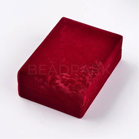 Rectangle Velvet Necklace BoxesVBOX-D003-01-1