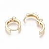 Brass Huggie Hoop Earring FindingsX-KK-S350-069G-2