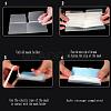 Portable Foldable Plastic Mouth Cover Storage Clip OrganizerAJEW-E034-71B-5