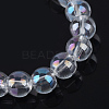 Electroplate Glass Beads StrandsX-EGLA-Q062-6mm-A09-2