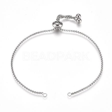 Adjustable 304 Stainless Steel Bracelet MakingSTAS-G169-01P-A-1