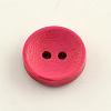 2-Hole Dyed Wooden ButtonsX-BUTT-R031-036-2