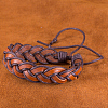Adjustable Casual Unisex Braided Leather BraceletsBJEW-BB15584-9