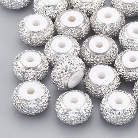 Resin Rhinestone Beads X-RESI-T020-01A-03-1