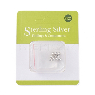 Sterling Silver Spacer Beads X-STER-K171-47S-4mm-1