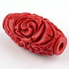 Carved Cinnabar BeadsCARL-Q004-76B-7