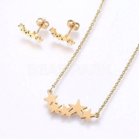 304 Stainless Steel Jewelry SetsSJEW-O090-16G-1