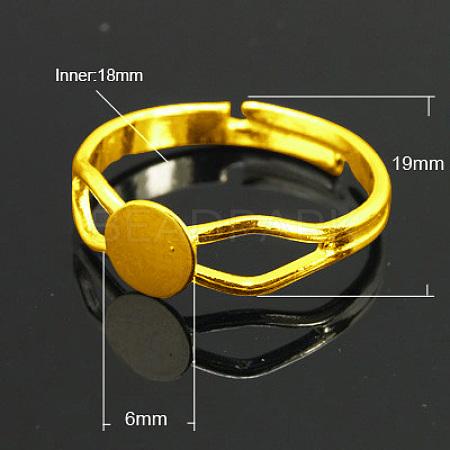 Brass Ring ComponentsX-KK-C3044-6mm-G-NF-1