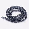 Faceted Round Glass Beads StrandsX-EGLA-J042-4mm-03-2