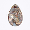 Synthetic Aqua Terra Jasper Pendants G-S329-036-2